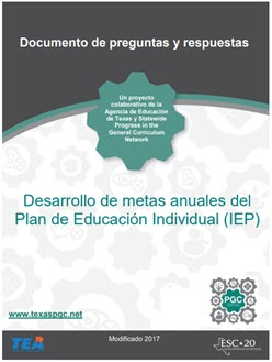 Individual Education Program (IEP) Q and A image in Spanish