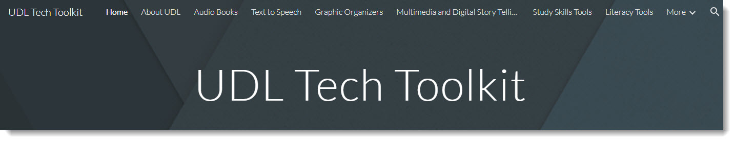 Universal Design for Learning Tech Tool Kit image and link